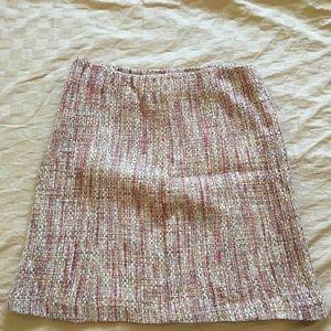 Pink & tan tweed Nine & co  skirt with lining